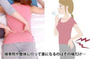 接骨院に行っても腰痛が治らない