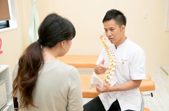 たけし接骨院の検査と説明