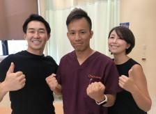 平昌五輪に出場した斯波正樹選手がたけし接骨院に来院。